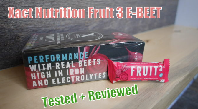 Xact Nutrition E-BEET Energy Bar Review